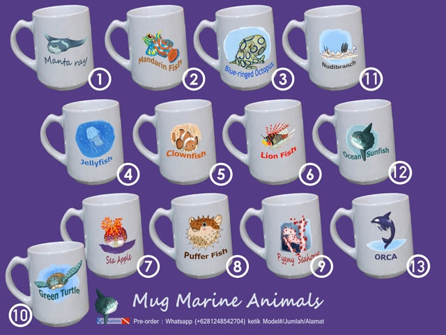 Mug Marine Animals