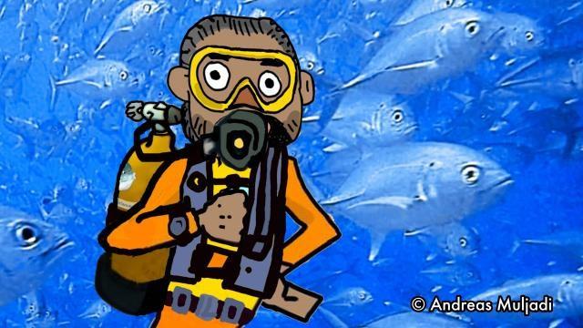 Isyarat Tangan : Tekanan udara sisa 50 Bar