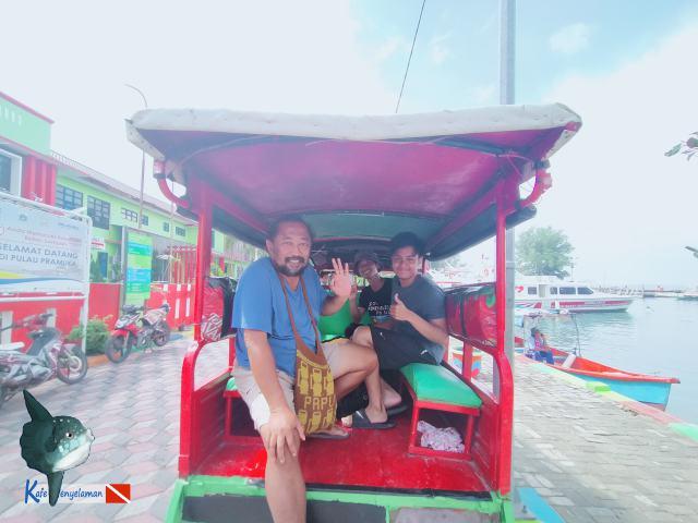 Arrive the Pramuka island