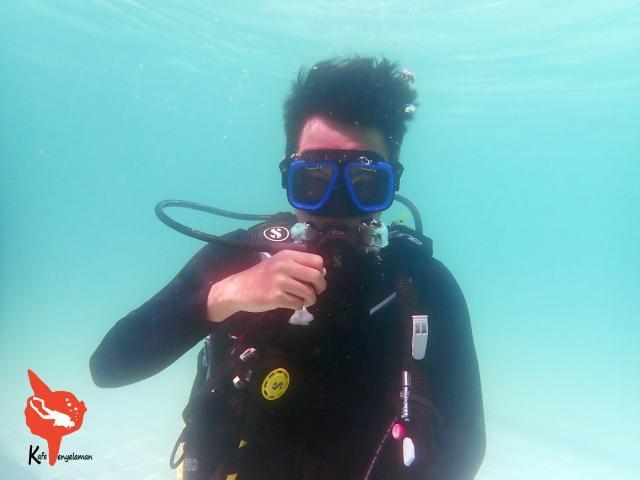 Bernafas di bawah air menggunakan scuba